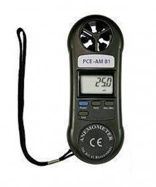 Máy đo tốc độ gió loại bỏ túi  PCE-AM81