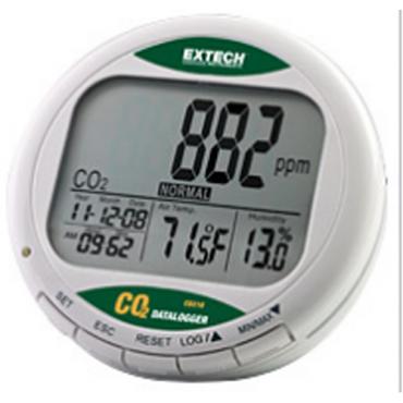 Máy đo khí CO2, nhiệt độ, độ ẩm trong nhà Extech CO210