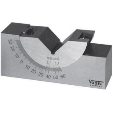 Khối V-Block chỉnh được góc nghiêng 102x46x48x29mm Vogel 334003