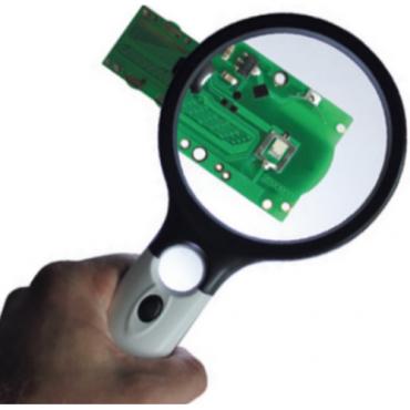 Kính lúp kỹ thuật Ø90 mm có đèn LED chiếu sáng Vogel 600148