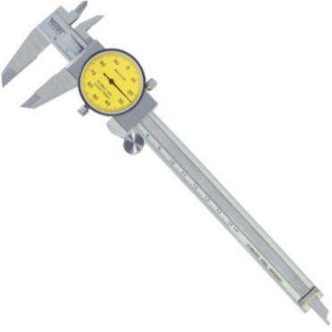 Thước kẹp đồng hồ 300mm, ±0.01mm Vogel 201109