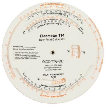 Dụng cụ tính điểm tụ sương và độ ẩm tương đối Elcometer G114----2