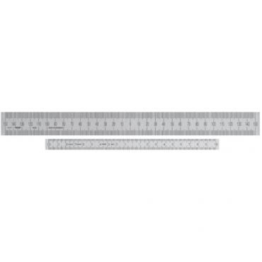 Thước inox có điểm Zero tại trung điểm của thước Vogel 1018010500-0-