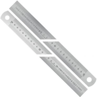 Thước Inox khắc laser dung sai theo tiêu chuẩn EC II Vogel 1008110050