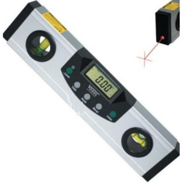 Thước thủy điện tử 225mm 2 tia laser, đế từ tính Vogel 712010
