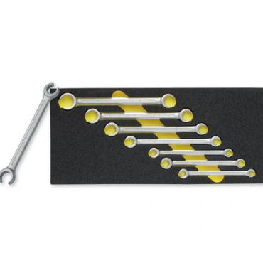 Bộ cờ lê vặn ống hai đầu miệng. Kích thước 8 đến 22mm ELORA OMS-31