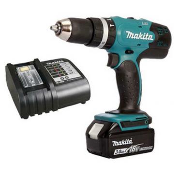 Máy khoan búa và vặn vít dùng pin Makita DHP453SFX8 ( 18V)